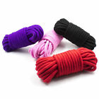 20 Soft Cotton Ropes- 5 metres (16ft) each rope!- Black Red Purple Pink