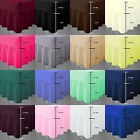Polycotton Plain Dyed Frilled Fitted Valance Sheets In 4 Standard UK Sizes