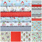 FROSTY FRIENDS Fabric bundles OR Fabrics per 1/2 metre 100% Cotton Fabric