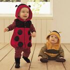 Baby Boy Girl Ladybug/Bee Animal Fancy Party Costume Outfit Clothes Size 0 1 2