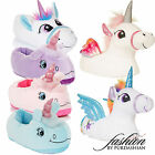 Womens Novelty 3D Character Plush Unicorn Slippers Ladies Girls Gift Size UK 3-8
