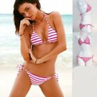 1 Sexy 2pcs Triangle Brazilian Bikini Swimwear Swimsuit Pucker Back Scrunch Butt