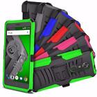 For ZTE Max XL / Blade Max 3 N9560 Ultra Rugged Hybrid Belt Clip Holster Case