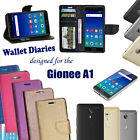 Diary Wallet Style Folio Flip Flap Cover Case For Gionee A1