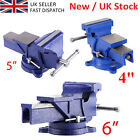 "4"" 5"" 6"" Heavy Duty Engineers Vice Swivel Base Workshop Clamp Jaw Work Bench Hot"