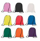 Plain PE Bag Drawstring Backpack Waterproof Gym Swim School  Sports Bag