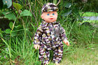 "BRITISH ARMY BLUE EYES COMBAT DAVID 12"" INTERACTIVE BOY DOLL 30CM H - NEW BOXED"