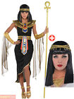 Adult Cleopatra Costume + Accessories Egyptian Queen Goddess Fancy Dress Ladies