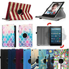 360 Rotating Case Stand Cover for All-New Amazon Fire HD 8 ( 7th Gen, 2017 )