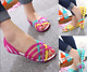 2017 SUMMER WOMEN BEACH FLAT SANDALS COLORED OPEN TOE JELLY HOLLOW SHOES UK 2-7