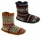 Mens Coolers Fairisle Warm Faux Fur Lined Boot Slippers Sz Size 7 8 9 10 11 12