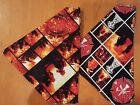 FIRE AND RESCUE HOMEMADE 2 SIDED DOG SCARF (PICK SIZE) NEW