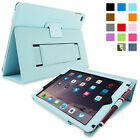 Snugg Leather Case Cover Built In Stand Elastic Strap For Apple iPad Air 2