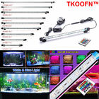 RGB Color Changing LED Aquarium Fish Tank Lighting Bar Submersible Air Curtain