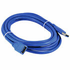 Premium 1.5FT 5FT 10FT 15FT USB 3.0 A Male to Female Extension Cable Cord Blue