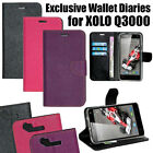 Diary Wallet Style Folio Flip Flap Cover Case For Xolo Q3000