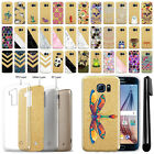 For Samsung Galaxy S6 G920 Sparkling Gold TPU Case Cover Protective + Pen