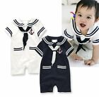 Baby Toddler Boy Girl Sailor Marine Halloween Fancy Dress Costume Outfit Suit