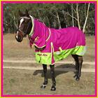 LOVE MY HORSE 600D 5'0 - 6'9 Reflective Waterproof Rainsheet Combo Rug Rasb/Lime