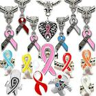 Awareness Ribbon Charms Pendants Beads For European Style Charm Bracelets