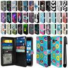 For Kyocera Hydro View C6742 All-In-One Premium Leather Wallet Cover Case + Pen