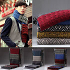Men Women Couple's Classic Knitting Wool Knitted Shawl Winter Warm Long Scarf J