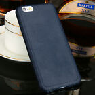 Luxury Vintage Soft Leather Rubber Coke Back Case Cover For iPhone 6s 7 Plus 5s