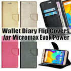 Diary Wallet Style Flip Flap Cover Case For Micromax Evok Power Q4260