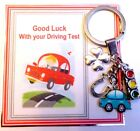 Good Luck on Passing your Driving Test Gift Key ring 4 Leaf Clover Lucky