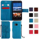 Patterned Leather Stand Shockproof Purse Wallet Case Cover For HTC One / Desire