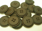 New lots of Faux Leather Dark Brown Buttons 1inch 7/8, 3/4,5/8 & Blazer Coat FBR