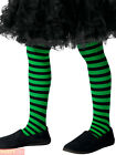 Girls Wicked Witch Tights Childs Striped Halloween Fancy Dress Costume Accessory
