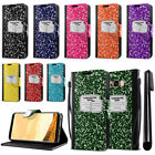 For Samsung Galaxy S8+ Plus G955 Composition Book Design Wallet Case Stand + Pen