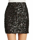 FRENCH CONNECTION 'Cosmic Sparkle' Sequined Mini Skirt - Black Hologram $148