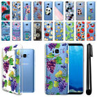 For Samsung Galaxy S8+ Plus G955 Ultra Thin Clear TPU Case Phone Cover + Pen
