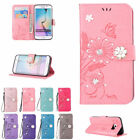 Diamond PU Leather Wallet Standing Case Cover for Samsung S4 S5 Mini S6 S7 Edge