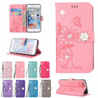 Diamond PU Leather Card Slot Wallet Case Covers for iPhone 5 6 SE S 7 Plus 5.5