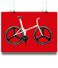 The Old Faithful graeme obree 1 hour record bike prints  red bk