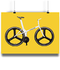 The Old Faithful graeme obree 1 hour record bike prints Yellow bk