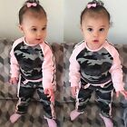 2PCS Toddler Infant Kids Baby Girls Outfits T-shirt Tops +Pants Clothes Set