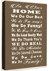 In Our Family Home Quote - Sepia Tones Canvas Wall Art Picture Print- ALL SIZES