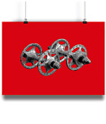 Campagnolo Sheriff Star Hubs   bicycle prints illustration  cycling R