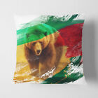 Faux Suede Throw Scatter Cushion Big Brown Bear V2