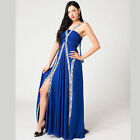 Long Party Dress Chiffon Formal Prom Ball Evening Gown with splits Style E107