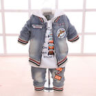 Baby Boy Suit Casual Children's Clothing Sets Cowboy Jacket+T-shirt+Pants Kids