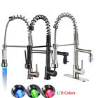 Kitchen Faucet Turn Spout Pull Down Sprayer Deck Mount Sink Mixer Tap 1 Handle