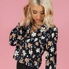 NEW Style State Gorgeous Floral Lace Up Top Womens Size 6 8 10 12 14