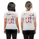Best Friends Matching T-Shirts Tops GirlsFlower Floral Funny Graphic Insta -BFFL