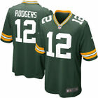 New Mens Green Bay Packers12 Aaron Rodgers Green Jersey Free Shipping ALL Size