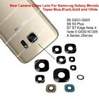 Genuine Glass Camera Lens Part For Samsung Galaxy S5 S6 S7 S8  Note 4 J1  Note 5